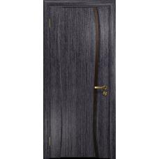 Ульяновская дверь Портелло-1 абрикос стекло триплекс бронзовый «вьюнок» глянцевый