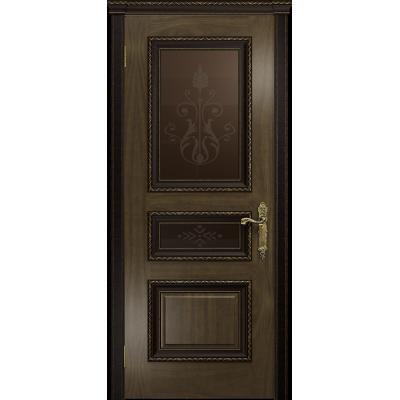 Ульяновская дверь Версаль-2 Декор американский орех стекло бронзовое пескоструйное «версаль-2»