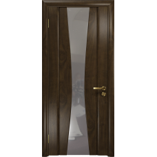 Ульяновская дверь Соната-2 американский орех тонированный стекло триплекс зеркало