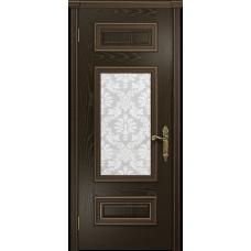 Ульяновская дверь Версаль-4 ясень венге стекло белое пескоструйное «ковер»