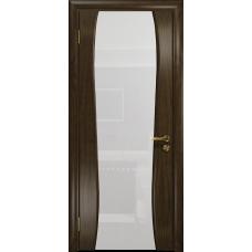 Ульяновская дверь Портелло-2 американский орех тонированный стекло триплекс белый