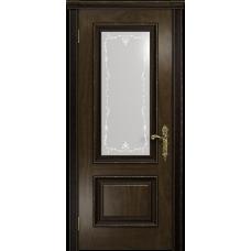 Ульяновская дверь Версаль-1 Декор американский орех тонированный стекло белое пескоструйное «версаль-1»