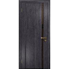 Ульяновская дверь Триумф-1 абрикос стекло триплекс бронзовый «вьюнок» матовый