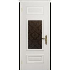 Ульяновская дверь Версаль-4 ясень белый стекло бронзовое пескоструйное «ковер»