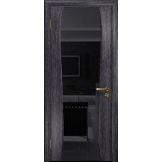 Ульяновская дверь Портелло-2 абрикос стекло триплекс черный