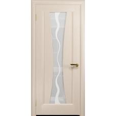 Ульяновская дверь Соната-1 дуб беленый стекло белое пескоструйное «каньон»