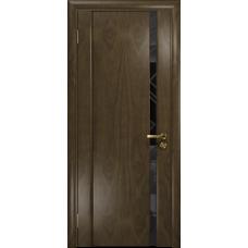 Ульяновская дверь Триумф-1 американский орех стекло триплекс черный 3d «куб»