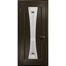 Ульяновская дверь Соната-1 венге стекло витраж «тюльпан»