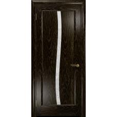 Ульяновская дверь Миланика-3 ясень венге золото стекло белое пескоструйное «миланика-3»