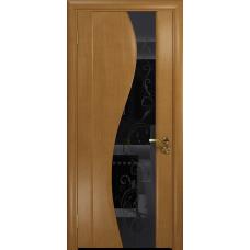 Ульяновская дверь Фрея-2 анегри стекло триплекс черный «сабина» глянцевый