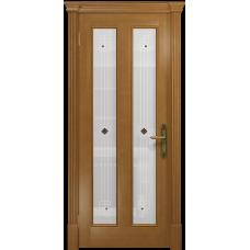 Ульяновская дверь Неаполь анегри стекло белое пескоструйное «ромб»