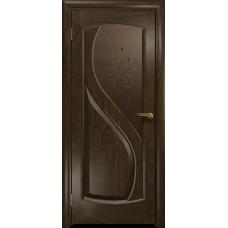 Ульяновская дверь Диона-1 американский орех тонированный стекло бронзовое пескоструйное «лилия»
