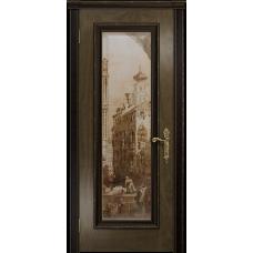Ульяновская дверь Версаль-5 Декор американский орех стекло цифровая фреска
