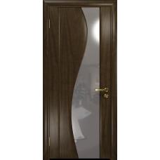 Ульяновская дверь Фрея-2 американский орех тонированный стекло триплекс зеркало