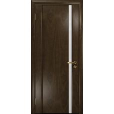 Ульяновская дверь Триумф-1 американский орех тонированный стекло триплекс белый
