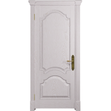 Ульяновская дверь Валенсия-1 ясень белый глухая