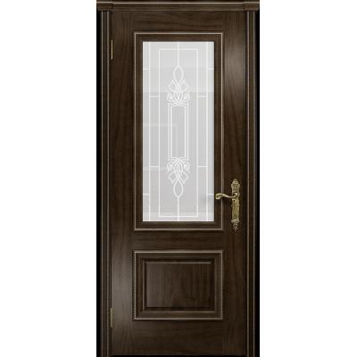 Ульяновская дверь Версаль-1 американский орех тонированный стекло белое пескоструйное «кардинал»