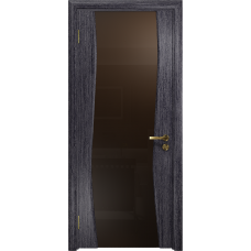 Ульяновская дверь Грация-3 абрикос стекло триплекс бронзовый