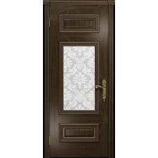 Ульяновская дверь Версаль-4 американский орех тонированный стекло белое пескоструйное «ковер»