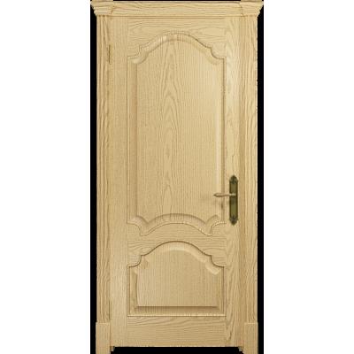 Ульяновская дверь Валенсия-1 ясень ваниль глухая