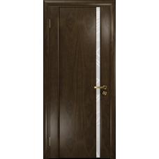 Ульяновская дверь Триумф-1 американский орех тонированный стекло триплекс белый 3d «куб»