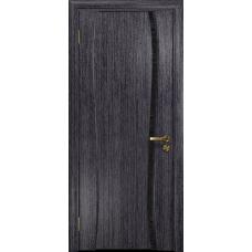 Ульяновская дверь Портелло-1 абрикос стекло триплекс черный с тканью