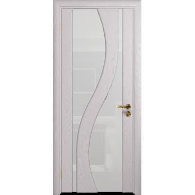 Ульяновская дверь Веста ясень белый стекло триплекс белый