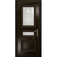 Ульяновская дверь Версаль-2 Декор ясень венге золото стекло белое пескоструйное «версаль-2»