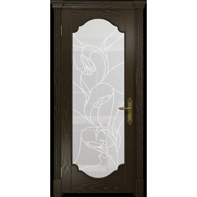 Ульяновская дверь Валенсия-2 ясень венге стекло белое пескоструйное «кампанелла»