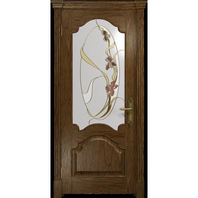 Ульяновская дверь Валенсия-1 сукупира стекло витраж «овал»