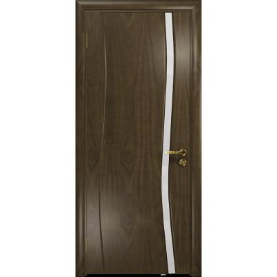 Ульяновская дверь Грация-1 американский орех стекло триплекс белый