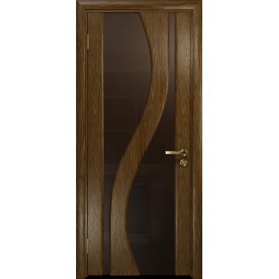 Ульяновская дверь Веста сукупира стекло триплекс бронзовый