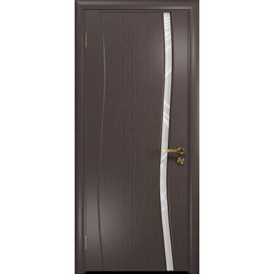 Ульяновская дверь Грация-1 эвкалипт стекло триплекс белый 3d «куб»