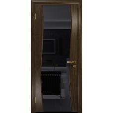 Ульяновская дверь Грация-3 американский орех стекло триплекс черный