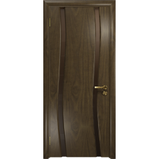 Ульяновская дверь Грация-2 американский орех стекло триплекс бронзовый