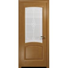 Ульяновская дверь Ровере анегри стекло белое пескоструйное «корено»