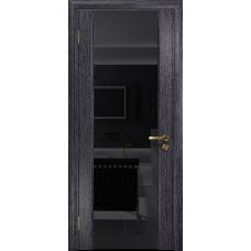 Ульяновская дверь Триумф-3 абрикос стекло триплекс черный