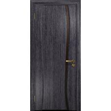 Ульяновская дверь Портелло-1 абрикос стекло триплекс бронзовый «вьюнок» матовый