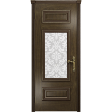 Ульяновская дверь Версаль-4 американский орех стекло белое пескоструйное «ковер»