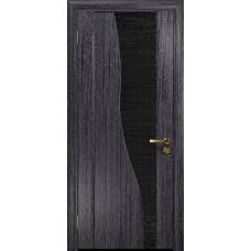 Ульяновская дверь Торелло абрикос стекло триплекс черный с тканью