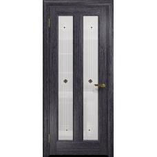 Ульяновская дверь Тесей абрикос стекло белое пескоструйное «ромб»
