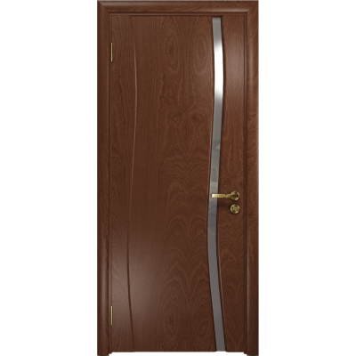 Ульяновская дверь Грация-1 красное дерево стекло триплекс зеркало