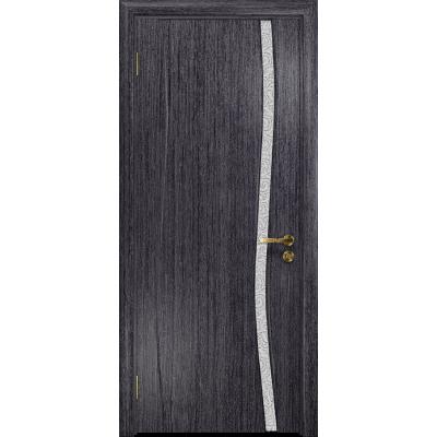 Ульяновская дверь Грация-1 абрикос стекло триплекс белый с тканью