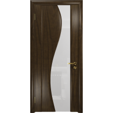 Ульяновская дверь Фрея-2 американский орех тонированный стекло триплекс белый