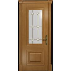 Ульяновская дверь Кардинал анегри стекло витраж «адель»