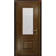 Ульяновская дверь Кардинал сукупира стекло белое с гравировкой «кардинал»