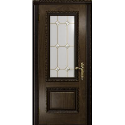 Ульяновская дверь Версаль-1 Декор американский орех тонированный стекло витраж «адель»