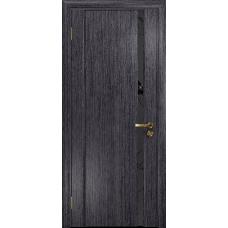 Ульяновская дверь Триумф-1 абрикос стекло триплекс черный «вьюнок» матовый