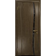 Ульяновская дверь Портелло-1 американский орех стекло триплекс черный 3d «куб»