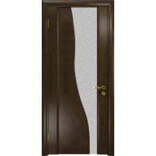 Ульяновская дверь Торелло американский орех тонированный стекло триплекс белый с тканью